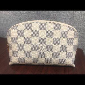 Louis Vuitton Damier Azur cosmetic bag- Authentic
